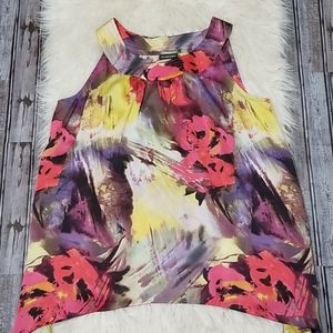 Lane Bryant Floral Watercolor Blouse NWT